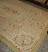 French Market Collection Pastel Tan Brown Aubusson Rug European Style 10