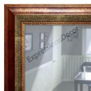 Custom Rusted Gold Flat Glass Decorative Wall Mirror Mantle And Bathroom Decor