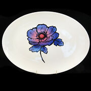 Blue Anemone By Wedgwood Susie Cooper Platter 15.75 Long New Never Used England