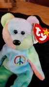 Rare 1996 Ty Beanie Baby Peace Bear Original Collectible With Tag Errors