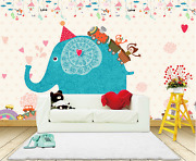 3d Painted Elephant Mounts Paper Wall Print Wall Decal Wall Deco Indoor Murals