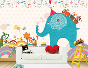 3d Painted Elephant Mounts 2 Paper Wall Print Wall Decal Wall Deco Indoor Murals