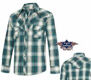 Chemises Country Western Ref Jeff Blue Stars And Stripes Homme