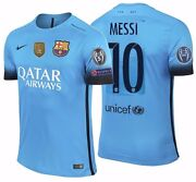 Nike Lionel Messi Fc Barcelona Authentic Champions League Third Jersey 2015/16