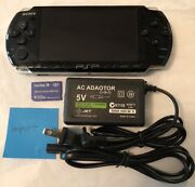 Black Sony Psp 3000 System W/ Charger And Memory Card Bundle Tested Works Import