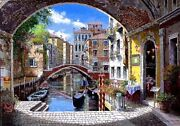 S.sam Park Archway To Venice 2003 Stretched Canvas Embelished Serigraph Coa