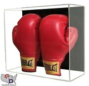 Acrylic Wall Mount Double Boxing Glove Display Case Large Uv Protecting Gameday