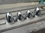 And03940-and03950s Lead-sled/rat Rod Custom Chrome Bullet Caps Set Of 4
