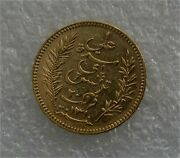 1892 French Tunisia Tunis Gold Coin 20 Francs Colonial Paris Mint Luster
