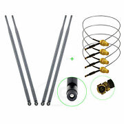 4 9dbi Dual Band Rp-sma Wifi Antenna + U.fl Cable Mod Kit For Asus D-link Router