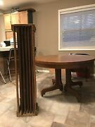 Antique Wisconsin Furn Co Tilt Top Table 1900-1950and039sh 30 W48 With 5 8 Leaves