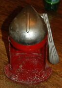 Vintage Juice O Mat Cat 462-c Red And Chrome Single Action Juicer Rival Mfg Cast