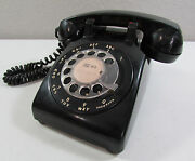 Vintage Black Bell System Western Electric Rotary Dial 1972 C/d 500 Telelphone