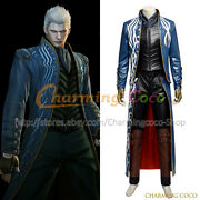Devil May Cry 3 Dante's Awakening Vergil Cosplay Costume Men Uniform Outfit New