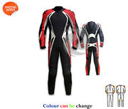 Red And Black Motogp Racing Suit Motorbike Racing Apparel With Speed Hump Sale