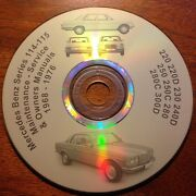 Mercedes Benz W 114 W 115 Workshop Service And Repair Manuals On Cd