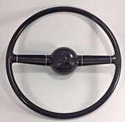 Deluxe 15and039and039 Steering Wheel W/ V8 Horn Button For 1940 Ford W/ Gm Steering Column