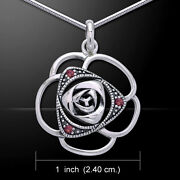 Spring Blooming Flower Gem And Sterling Silver Pendant Peter Stone Fine Jewelry