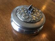 Victor Silver Co. Antique Round Gentlemanand039s Cufflink Box Polished