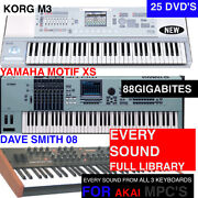 M3,xs,and Dave Smith Sound Samples For Akai Mpc Renaissance 60 2000 3000 Xl 500