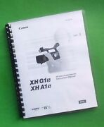 Canon Xha1s Xhg1s Camera 155 Page Owners Manual Guide