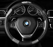Steering Wheel Cover Black Carbon Fits 14.5 To 15.5 Racing Sport M