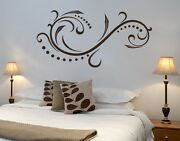 Calm Wave Floral Ornament - Highest Quality Wall Decal Stickers
