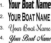 10x50 Personalized Boat Name Sticker Transom 10x50 Custom Boat Name Decals