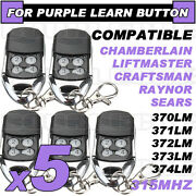 Best 5pk Liftmaster Compatible Remote 370lm 371lm 372lm 373lm 374lm 139.18191