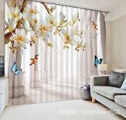 3d Flowers 33 Blockout Photo Curtain Printing Curtains Drapes Fabric Window Us