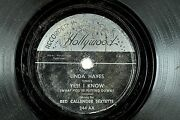 Red Callender Sextette W/ Linda Hayes - R And B Jazz 78 Rpm- Yes I Know