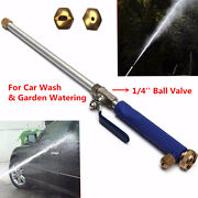 18and039and039 Aluminium High Pressure Car Washer Spray Nozzle Water Gun Hose With 2 Tips