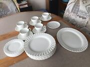 Sno-white Regency Johnson Brothers Made In England Ironstone Dishes - 23 Pcs.