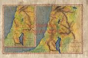 14 Ancient Israel Vintage Historic Antique Map Painting Poster Print