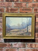 Rare Old Lyme Connecticut Impressionist Landscape Painting By Nell Choate Jones