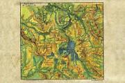 145 Yellowstone 1906 Vintage Historic Antique Map Painting Poster Print