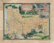 152 Parks And Neighborhood Of Mn And St. Paul Vintage Historic Antique Map Print