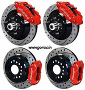 Wilwood Disc Brake Kit70-78 Gm13/12 1 Piece Drilled Rotors6/4 Piston Red And039