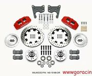 Wilwood Forged Dynapro 6 Front Brake Kit Fits Plymouth Fury,12.19 Drilled,red