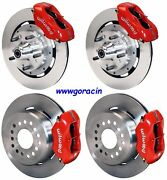 Wilwood Disc Brake Kit,complete,1965-1969 Ford Mustang,red Calipers,12 Rotors