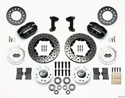 Ford Mustang Ii, Pinto Wilwood Dynapro Dustboot Front Brake Kit,drilled Rotors