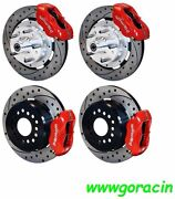 Wilwood Disc Brake Kit1965-1969 Fordmercury12 Drilled Rotorsred Calipers