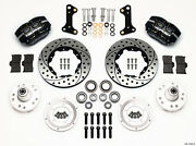 Wilwood Dynapro Dust Boot Front Brake Kit Fits 1964-1972 Chevelledrilled Rotors