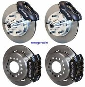 Wilwood Disc Brake Kit,60-72 Cdp A-body W/9 Drums,black Calipers,11,w/pb Cable