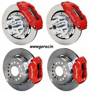 Wilwood Disc Brake Kit,1955-1957 Chevy,12 Rotors,6/4 Piston Red Calipers,210