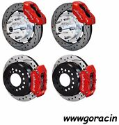 Wilwood Disc Brake Kit59-64 Chevy Impalabel Air11 Drilled Rotorsred Caliper