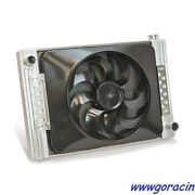 Universal Fit Flex-a-fit Aluminum Radiator And Electric Fan With Shroud,brackets -
