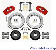 Wilwood Aero6 Front Big Brake Kit Fits 2015 Ford Mustang14 Rotors - With Lines