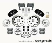 Wilwood Forged Dynapro 6 Front Brake Kit Fits Plymouth Fury,12.19 Drilled,black