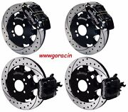 Wilwood Front And Rear Disc Brake Kit Fits 2002-15 Mini-cooper,bmw Drilled Rotors